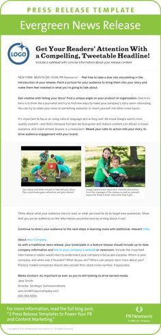 Best Press Release Email Templates Images On Pinterest Press - Mailchimp press release template