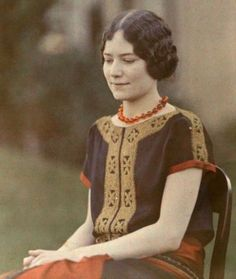 "fawnvelveteen:  "" Artist Anna Hyatt Huntington c. 1924.  """