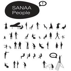 Risultati immagini per sanaa people Sanaa Architecture, Architecture People, Architecture Graphics, Architecture Student, Architecture Drawings, Autocad, Illustration Vector, People Illustration, Sketches Of People