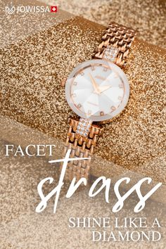 Looking for a unique Christmas gift that sparkles and shines? Discover the Facet Strass collection of women's watches with cut-glass craftsmanship and beautiful colours to achieve jewellery bright sparkle on your wrist, every hour of the day. #Christmasgift #SwissWatch Swiss Made Watches, Great Gifts For Men, Unique Christmas Gifts, Cut Glass, Michael Kors Watch, Sparkles, Bracelet Watch, Colours, Bright