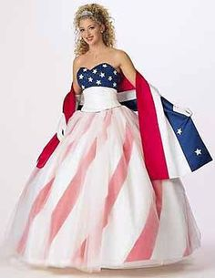 Just for fun I thought I would share with you some patriotic wedding dresses I came across today, just in case the mood of the 4th really over took you!! Angee's Eventions: American Flag Wedding Dress? Yes or NO!!