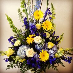 Funeral flower arrangement for San Diego Chargers Fan