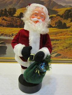 Christmas Animated Musical Santa Claus Holiday Figure by RainbowConnection15 on Etsy