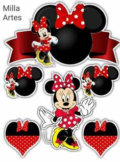 Bolo Mickey E Minnie, Mickey Mouse Cake Topper, Mickey E Minnie Mouse, Minnie Mouse Birthday Decorations, Minnie Mouse Christmas, Mickey Cakes, Mickey Mouse Clubhouse Birthday, Facebook Sticker Store, Birthday Decorations At Home