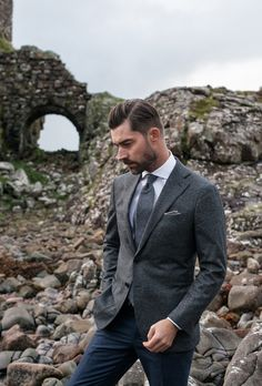 Slate blues, cool greys, and greens inspired by the colors of northern Scotland, featuring all-new custom shirts and jackets. Custom Shirts, Blues, Skye Scotland, Beards, Inspiration, Collection, Fall, Fashion, Custom Tailored Shirts