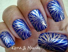 Katia & Manias: Tudo Azul (Blant Colors) + Carimbada (Konad)