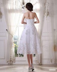 yellow wedding Sweetheart Taffeta Organza Beading Ruffle Short Wedding Dress $155.19