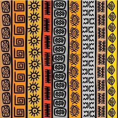 Seamless pattern avec des motifs ethniques africains Banque d'images