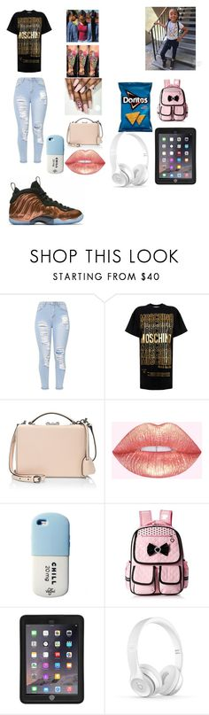 """Untitled #412"" by kaylafrost15 ❤ liked on Polyvore featuring Moschino, Mark Cross and Griffin"
