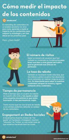 Cómo medir el alcance de los contenidos. Infografía en español. #CommunityManager