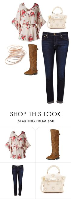 """""""school"""" by mrsbieber123-396 ❤ liked on Polyvore featuring Bamboo, AG Adriano Goldschmied, ZAC Zac Posen and Red Camel"""