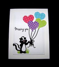 Ann Greenspan's Crafts: CAS Adorable Skunk card