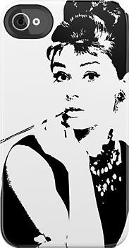 OMG! I WANT IT NOW!!! Audrey Hepburn iPhone case by Lauren Eldridge-Murray