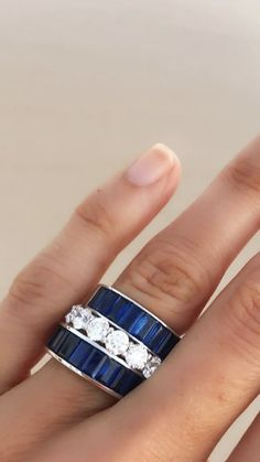 Diy Jewelry Gifts, Jewelry Rings, Jewelry Accessories, Fine Jewelry, Custom Jewelry Design, Sapphire Jewelry, Antique Engagement Rings, Beautiful Rings, Fashion Jewelry
