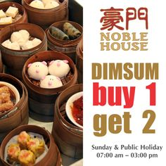 Uphold the weekend tradition of a leisurely afternoon with your family or loved ones and enjoy the new Dim Sum Buffet at Noble House Chinese Restaurant.  Intricately prepared to perfection, our Hong Kong Master Chef and his culinary team presents a varieties of delicate dim sum and electable dishes for the insatiable palate.  So hurry over to Noble House Chinese Restaurant where all our savoury promotions await to whet your appetite.