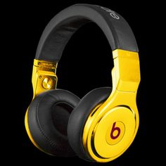 Gold Plated Beats by Dre Pro Edition Headphones