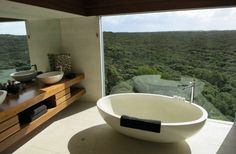 Now that's a bath with a view