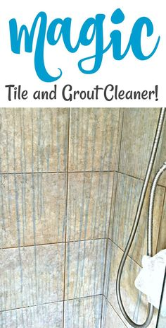 I do however have another favorite cleaning product that actually works wonders for removing the orange off of the grouted areas in my home… Believe it or