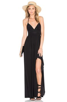 60c90e88bc Shop for Indah Uma Pleat   Button Maxi Dress in Black at REVOLVE. Free day  shipping and returns