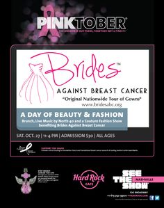 October 27th – A Day of Beauty and Fashion at the Nashville Hard Rock Cafe | Brides Against Breast Cancer