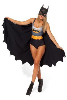Size L - Batman Cape Swim by Black Milk Clothing $110AUD