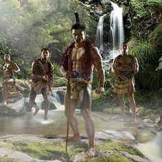 Maori Warriors - National Rugby League stars from the Pacific Islands in their island's traditional warrior dress. Polynesian Men, Polynesian Islands, Polynesian Culture, Polynesian People, Tiare Tahiti, National Rugby League, All Blacks Rugby, Tribal Outfit, Tribal Warrior