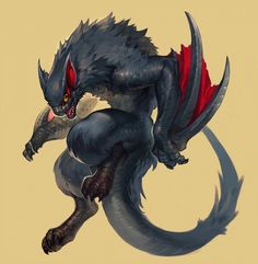 Wyvern + Cat = Nargacuga [Monster Hunter]