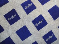 Finally Finished my Crown Royal Quilt! - Quilt With Us