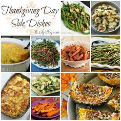 Thanksgiving Day side dishes.