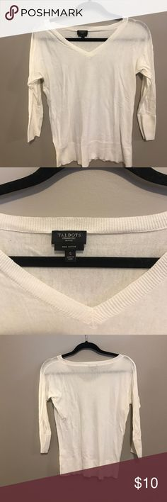 White talbots quarter length sweater Simple white sweater from Talbots Talbots Tops Sweatshirts & Hoodies
