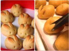 DIY Easter Bunny Dinner Rolls