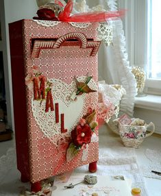 I'm going to make a valentines mail box and use it to store all of our cards and love letters in!