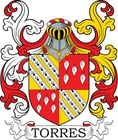 Torres Family Crest and Coat of Arms