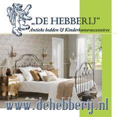 De Hebberij is gespecialiseerd in de verkoop van antieke franse spijlenbedden, landelijk woon- en kinderkameraccessoires.  bezoek onze site en laat u verrassen.  www.dehebberij.nl  www.facebook.com/dehebberij.nl