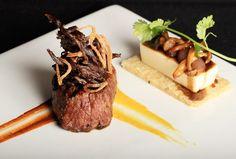 Peruvian Inspired Filet Mignon with a Japanese Twist @ Molecular Recipe Sous Vide, Gourmet Recipes, Cooking Recipes, Steak Plates, Peruvian Recipes, Food Concept, Weird Food, Molecular Gastronomy, Food Presentation