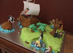 treasure island birthday cake