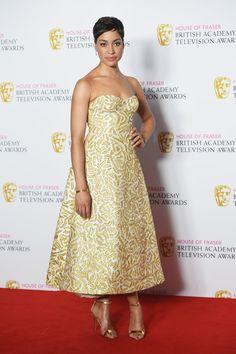 Pin for Later: Stars Celebrate in the Sunshine at the TV BAFTA Awards Cush Jumbo