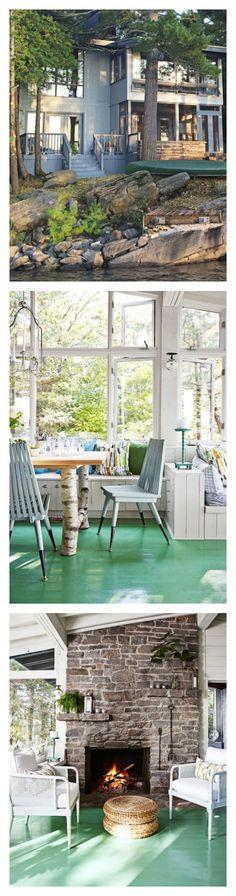 designer sarah richardson reinvented a s cottage on lake huron with fresh budgetsavvy tricks