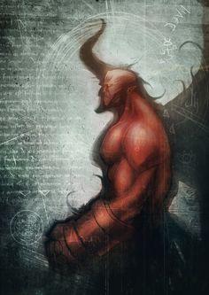 Hellboy - by Jimmy Kerast Comic Book Characters, Comic Books Art, Comic Art, Book Art, Starwars, Marvel Comics, Light Vs Dark, Hero Time, Art Costume