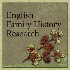Researching your Family History in England. These are some of our favourite websites and hints to help to trace your family.