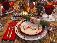 Christmas Village Tablescape