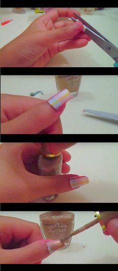 Creatively Clever Nail Art Hacks - how to make a fake nail with a straw super easy - Easy DIY Ideas, Tips, And Tutorials For Nail Art Hacks. Every Girl Needs To Try These Awesome Ideas For Glitter, That Go Great With Makeup That Is Simple And It Works. These Hacks Are Step By Step And Easy And Clever - http://thegoddess.com/nail-art-hacks