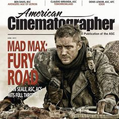 Tom Hardy in American Cinematographer Magazine - June 2015