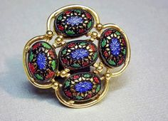 """Sarah Coventry Brooch 1970's Vintage Jewelry  """"Light of the East"""""""