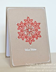 Stampin' Up ideas and supplies from Vicky at Crafting Clare's Paper Moments: A twiney bit of Festive Flurry!