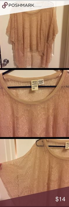 Billabong lace coverup in medium Stunning lace caftan by Billabong in light dusty pink lace. Size medium Billabong Tops Tunics
