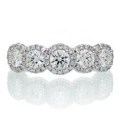 http://rubies.work/0294-sapphire-ring/ 0156-ruby-rings/ Platinum Diamond Five Stone Anniversary Wedding Band by SAMnSUE