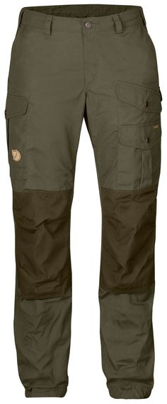 Durable G-1000® hiking pants with regular waist (mid waist) and regular fit. Reinforced rear and knees and six practical pockets.