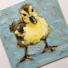 "Andrea Lavery on Instagram: ""Meet 'Stanley' the duckling. Sold! My first duck painting..... that I'm willing to share anyhow. 😏😆He's available in my shop. Link in…"""