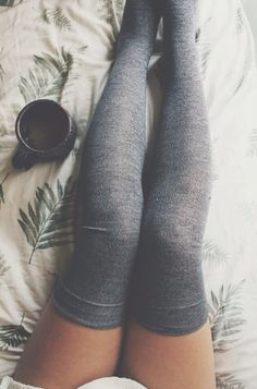 Thigh Highs. I am OBSESSED with tights, knee high, and thigh high socks these days